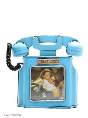 Фоторамка Телефон  10х10см PLATINUM quality. Цвет: голубой