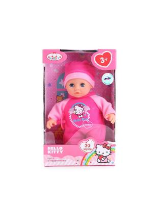 Пупс  Hello Kitty 20см, озвученный с мягким телом. Карапуз. Цвет: красный