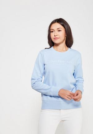 Свитшот Calvin Klein Jeans. Цвет: голубой
