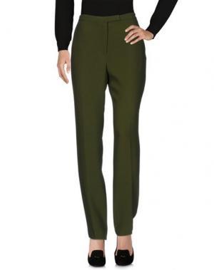 Повседневные брюки ELIE SAAB. Цвет: зеленый-милитари