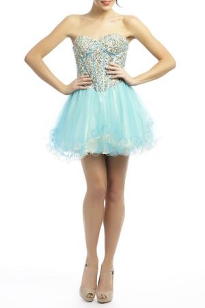Платье YASMIN. Цвет: бежевый