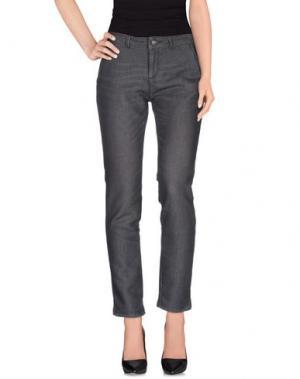 Повседневные брюки REIKO. Цвет: стальной серый