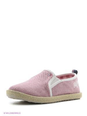 Тапочки Tommy Hilfiger. Цвет: розовый