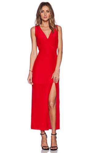 Макси платье dawn Myne. Цвет: красный