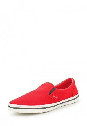 Слипоны Crocs. Цвет: красный