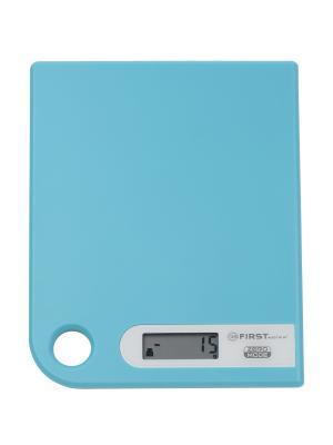 Весы кухонные FIRST. Цвет: голубой