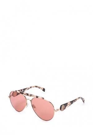 Очки солнцезащитные Tommy Hilfiger. Цвет: розовый