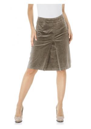 Вельветовая юбка B.C. BEST CONNECTIONS by Heine. Цвет: коричневый, песочный, темно-зеленый, черный