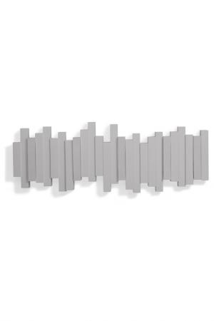 Вешалка настенная STICKS UMBRA. Цвет: серый