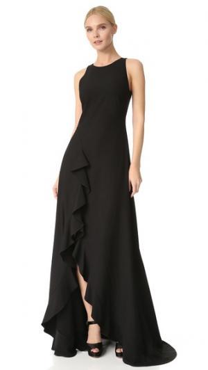 Вечернее платье Zac  Janice Posen. Цвет: голубой