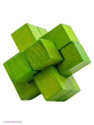 Деревянная игрушка-головоломка Крест FRIDOLIN. Цвет: зеленый