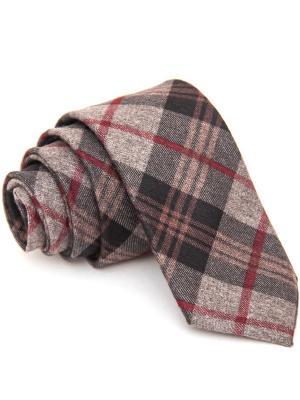Галстук Churchill accessories. Цвет: бордовый, коричневый, красный, серый