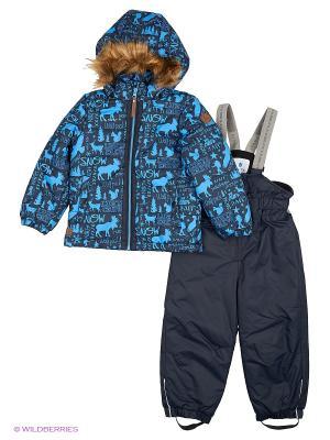 Комплект (куртка+полукомбинезон) Luhta. Цвет: темно-синий