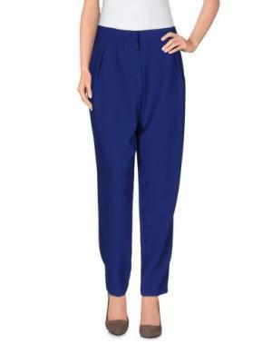 Повседневные брюки CENTOQUATTRO. Цвет: синий