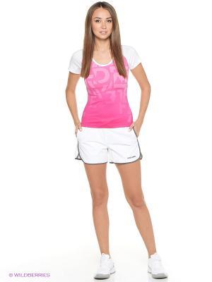 Футболка Abby Round Neck Shirt HEAD. Цвет: розовый, белый