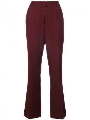 Строгие брюки с завышенной талией Odeeh. Цвет: красный