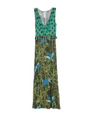 Длинное платье 22 MAGGIO by MARIA GRAZIA SEVERI. Цвет: зеленый-милитари