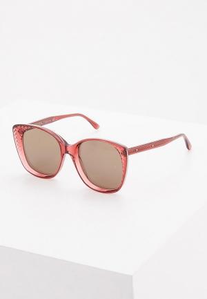 Очки солнцезащитные Bottega Veneta. Цвет: розовый