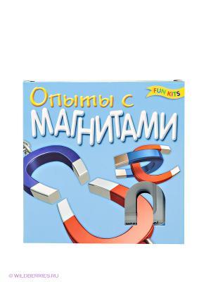 Опыты с магнитами, набор для творчества Fun kits. Цвет: голубой