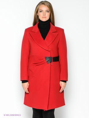 Пальто TOPSANDTOPS. Цвет: красный