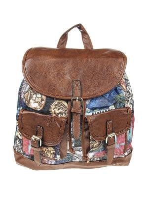 Рюкзак женский Olere. Цвет: коричневый, розовый, желтый, синий