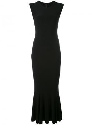 Платье с волнистым подолом Norma Kamali. Цвет: чёрный