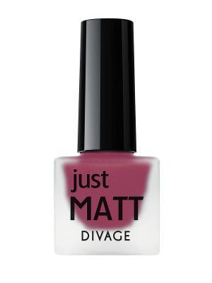 Лак для ногтей JUST MATT тон 5621 DIVAGE. Цвет: сливовый