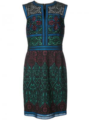 Платье с панельным дизайном Tadashi Shoji. Цвет: чёрный