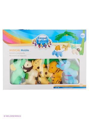 Музыкальная игрушка карусель Canpol babies. Цвет: зеленый, голубой, молочный, желтый