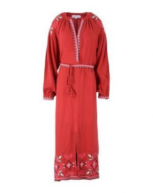 Длинное платье CHRISTOPHE SAUVAT. Цвет: красный