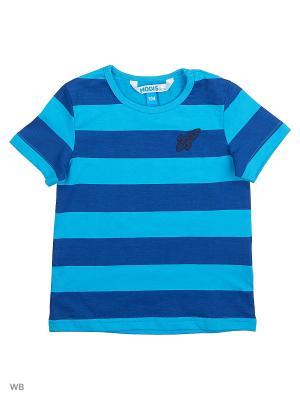 Футболка Modis. Цвет: синий, голубой