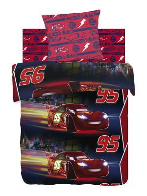 Комплект постельного белья 1,5 бязь Тачки Neon (светится в темноте) Disney. Цвет: красный