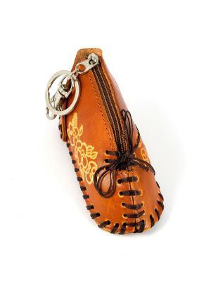 Брелок-ключница Тапочек Русские подарки. Цвет: рыжий