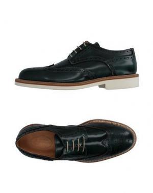 Обувь на шнурках HERMAN & SONS. Цвет: темно-зеленый