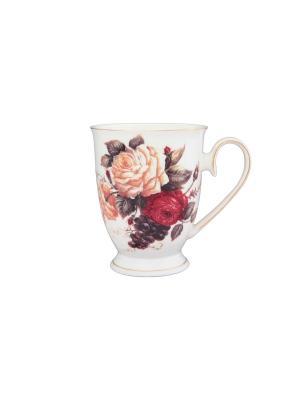 Кружка Бархатный нектар Elan Gallery. Цвет: белый, бежевый, коричневый, красный