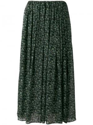 Floral print maxi skirt 08Sircus. Цвет: зелёный