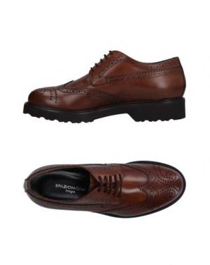 Обувь на шнурках SPAZIOMODA. Цвет: темно-коричневый
