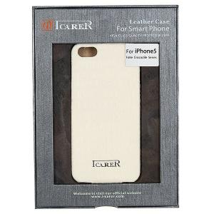 Чехол для iPhone 5  fake crocodile series White Icarer. Цвет: белый