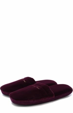 Комбинированные домашние туфли Gianvito Rossi. Цвет: фиолетовый