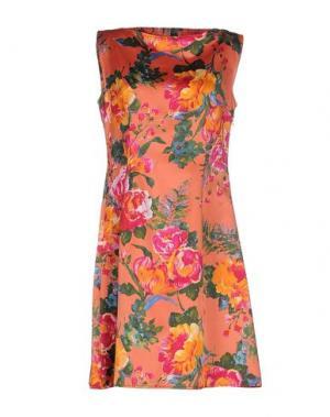 Короткое платье ANTONELLO SERIO. Цвет: оранжевый