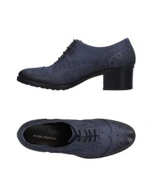 Обувь на шнурках ANGELA GEORGE. Цвет: грифельно-синий