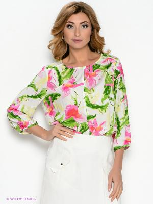 Блузка Femme. Цвет: молочный, розовый, зеленый