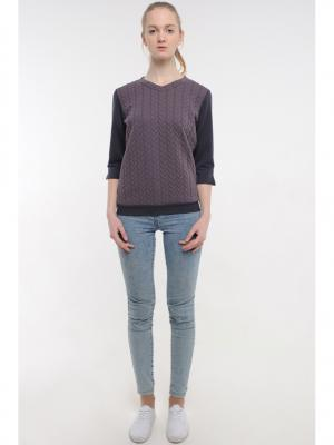 Пуловер Formalab. Цвет: темно-серый