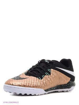 Шиповки HYPERVENOMX FINALE TF Nike. Цвет: черный, бронзовый