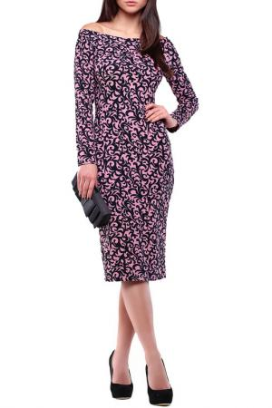 Платье Laura Bettini. Цвет: розово-черный в принт