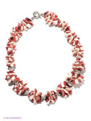 Колье Infiniti. Цвет: красный, белый, серебристый