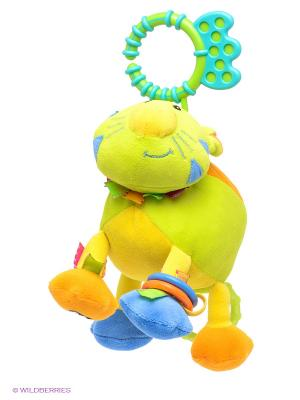 Погремушка-подвеска Джунгли на клипсе Amico. Цвет: салатовый, оранжевый