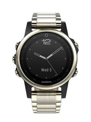 Часы fenix 5S SapphireChampagne/Metal BandGPS (010-01685-15) GARMIN. Цвет: черный, золотистый