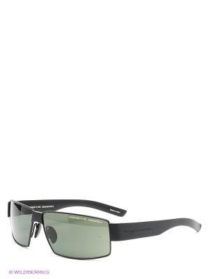 Солнцезащитные очки Porsche Design. Цвет: черный, зеленый