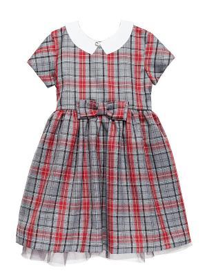 Платье Cookie. Цвет: серый, красный